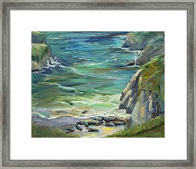 Delights Of Spring, Plein Air Framed Print by Marie Massey
