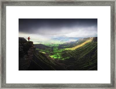 Delika Canyon Framed Print
