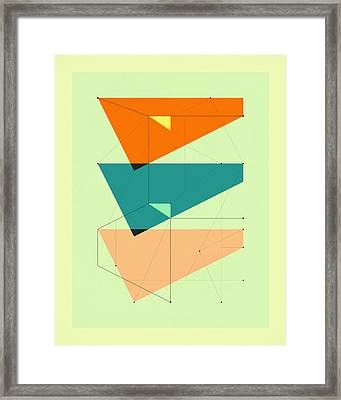 Delineation - 106 Framed Print by Jazzberry Blue