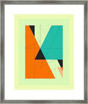 Delineation - 107 Framed Print by Jazzberry Blue