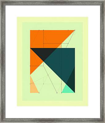 Delineation - 117 Framed Print