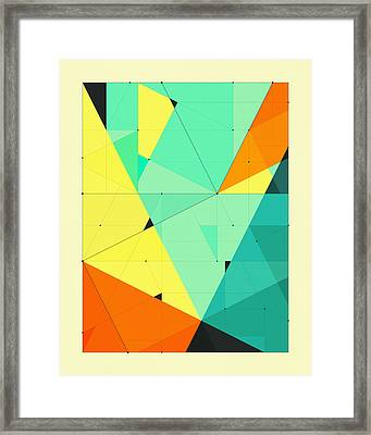 Delineation - 121 Framed Print by Jazzberry Blue