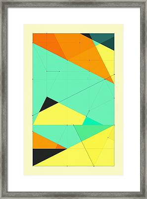 Delineation - 122 Framed Print by Jazzberry Blue