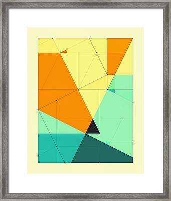 Delineation - 123 Framed Print