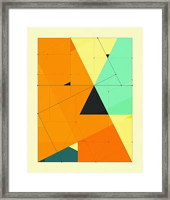 Delineation - 124 Framed Print by Jazzberry Blue