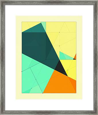 Delineation - 126 Framed Print by Jazzberry Blue