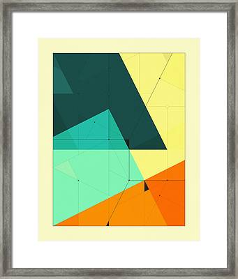 Delineation - 127 Framed Print by Jazzberry Blue