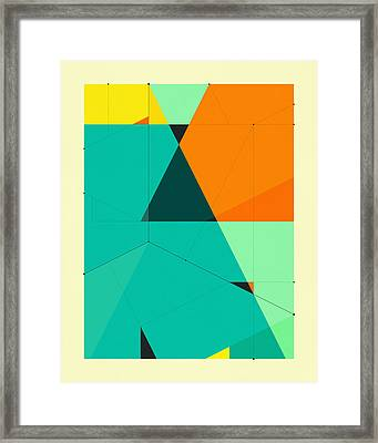 Delineation - 128 Framed Print by Jazzberry Blue