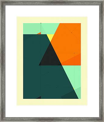 Delineation - 129 Framed Print by Jazzberry Blue