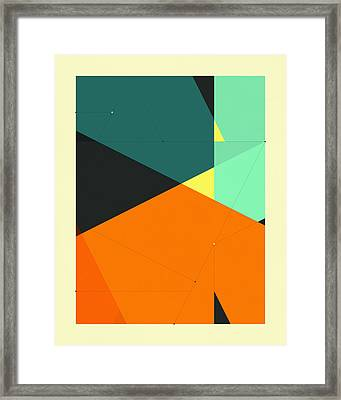 Delineation - 130 Framed Print by Jazzberry Blue