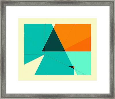 Delineation - 131 Framed Print by Jazzberry Blue
