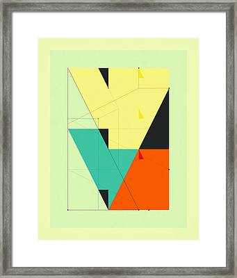 Delineation - Downtown Framed Print