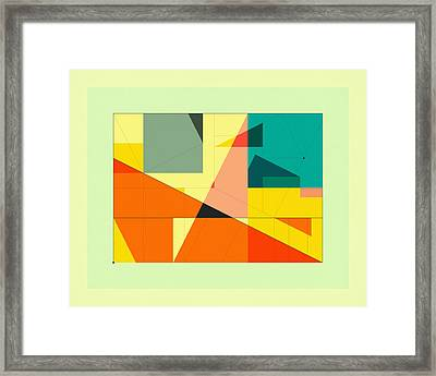 Delineation - Plaza Framed Print by Jazzberry Blue