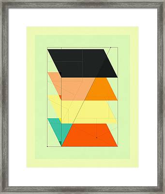 Delineation - Stages Framed Print by Jazzberry Blue