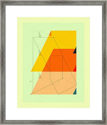 Delineation - Uptown Framed Print