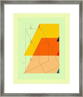 Delineation - Uptown Framed Print