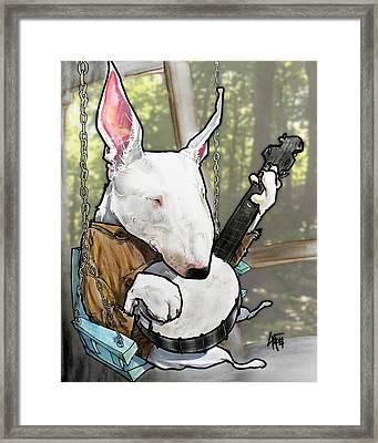Deliverance Bull Terrier Caricature Art Print Framed Print