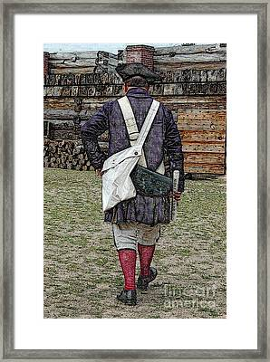 Delivering The Declaration  Framed Print by Diane E Berry