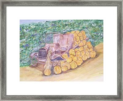 Delivering The Pumpkins Framed Print by Belinda Lawson
