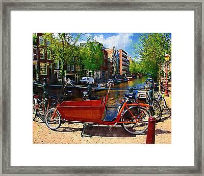 Delivery Bike Framed Print by Tom Reynen