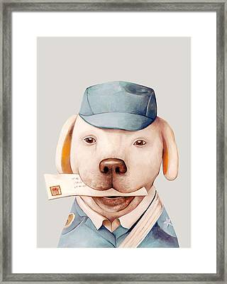 Delivery Dog Framed Print