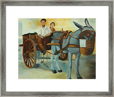 Delivery Wagon  Framed Print