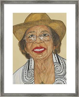 Della Willis Portrait Framed Print