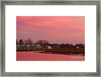 Delmarva Sunrise Framed Print by Alice Mainville