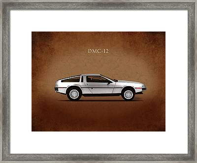 Delorean Dmc-12 Framed Print by Mark Rogan