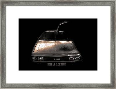 Delorean Framed Print by Martin Newman