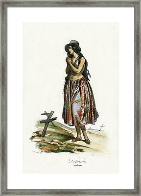 Framed Print featuring the drawing Delorida Guham Guam by Jacques Arago