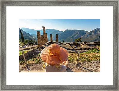Delphi Temple Of Apollo Framed Print