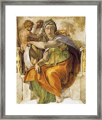 Delphic Sibyll Framed Print by Michelangelo Buonarroti