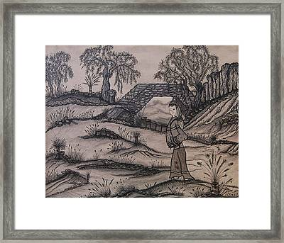 Delphine Framed Print by Dominique St-Jean