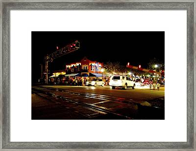 Delray Beach Railroad Crossing Framed Print