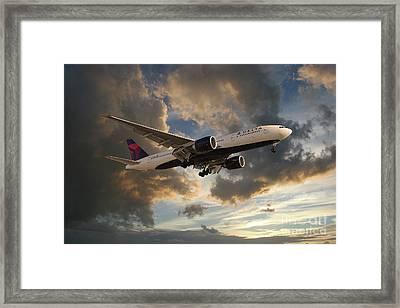 Delta Air Lines Boeing 777-200lr Framed Print