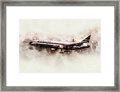 Delta Air Lines Lockheed L-1011 Tristar Framed Print