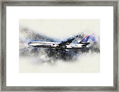 Delta Air Lines Mcdonnell Douglas Md-11 Painting Framed Print