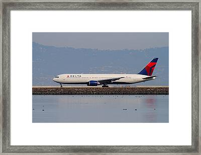 Delta Airlines Jet Airplane At San Francisco International Airport Sfo . 7d12111 Framed Print by Wingsdomain Art and Photography