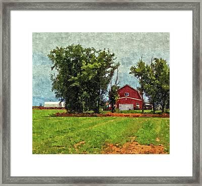 Delta Barn Framed Print