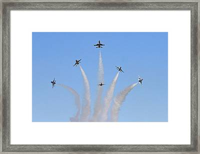 Delta Burst Framed Print by Shoal Hollingsworth