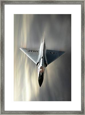 Delta Dart F-106 Framed Print by Peter Chilelli
