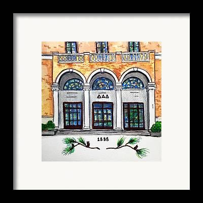 Tuscaloosa Paintings Framed Prints