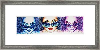 Delta Glasses Framed Print by Joseph Lawrence Vasile