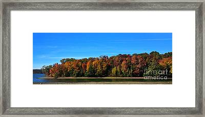 Framed Print featuring the photograph Delta Lake State Park Foliage by Diane E Berry