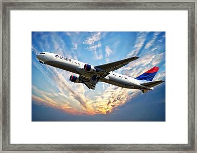 Delta Passenger Plane Framed Print