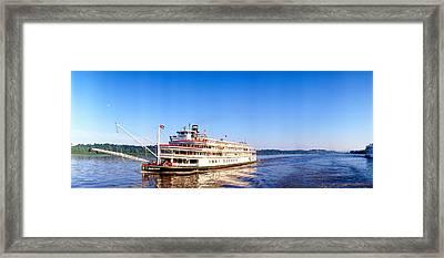 Delta Queen Steamboat On Mississippi Framed Print