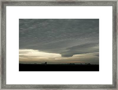 Delta Sky Framed Print by Suzanne Lorenz