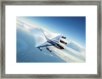 Delta Wing Wonder Framed Print by Peter Chilelli