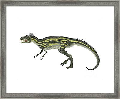 Deltadromeus Side Profile Framed Print by Corey Ford